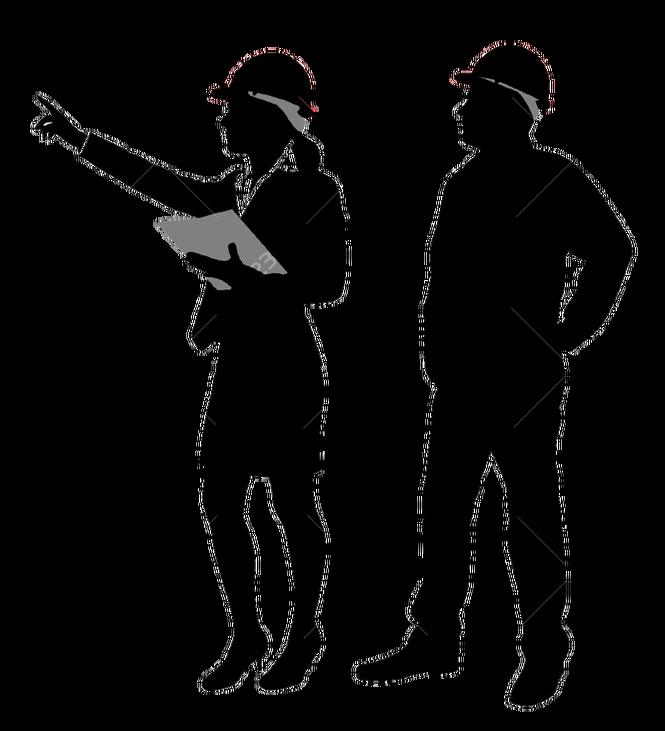 Silhouette Image Construction Engineer Job  silhouette