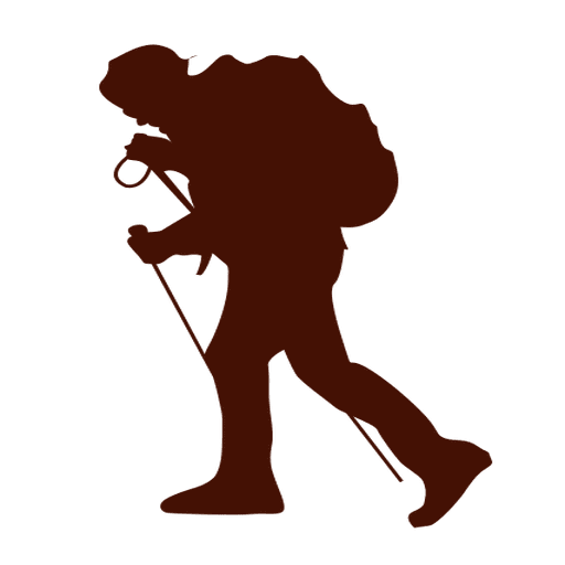 Hiking Silhouette Clip art  Silhouette png download  512