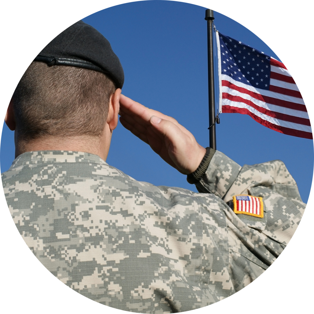 Flag of the United States Salute Soldier Military