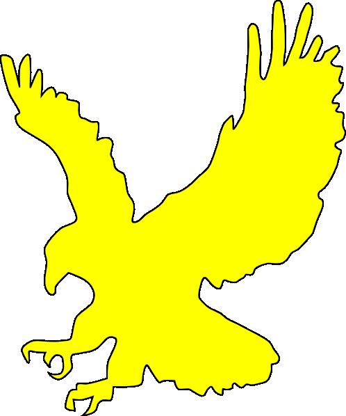 Yellow Flying Eagle Clip Art at Clkercom  vector clip