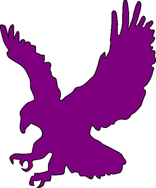 Purple Flying Eagle Clip Art at Clkercom  vector clip
