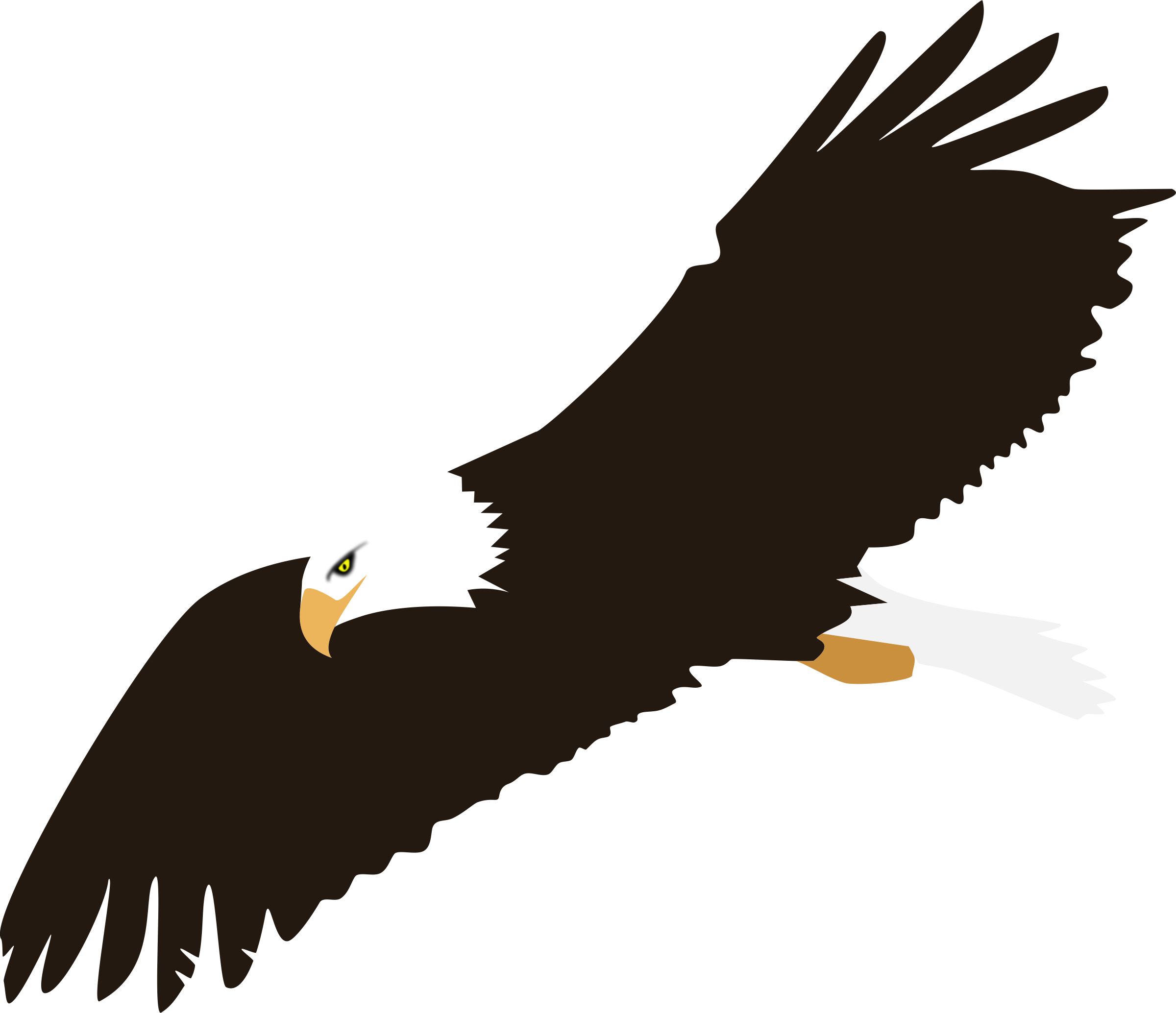 Clipart - Soaring Eagle (no background)   Eagle, Vector ... - Flying Eagle Vector Art