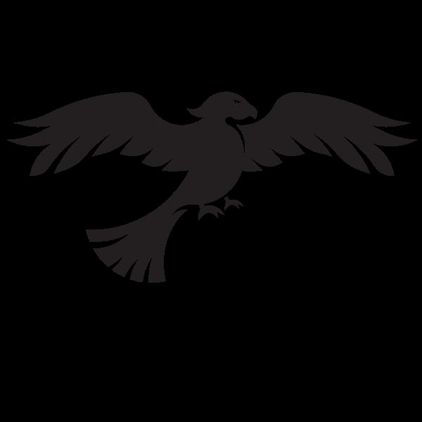 Hawk silhouette  Free SVG