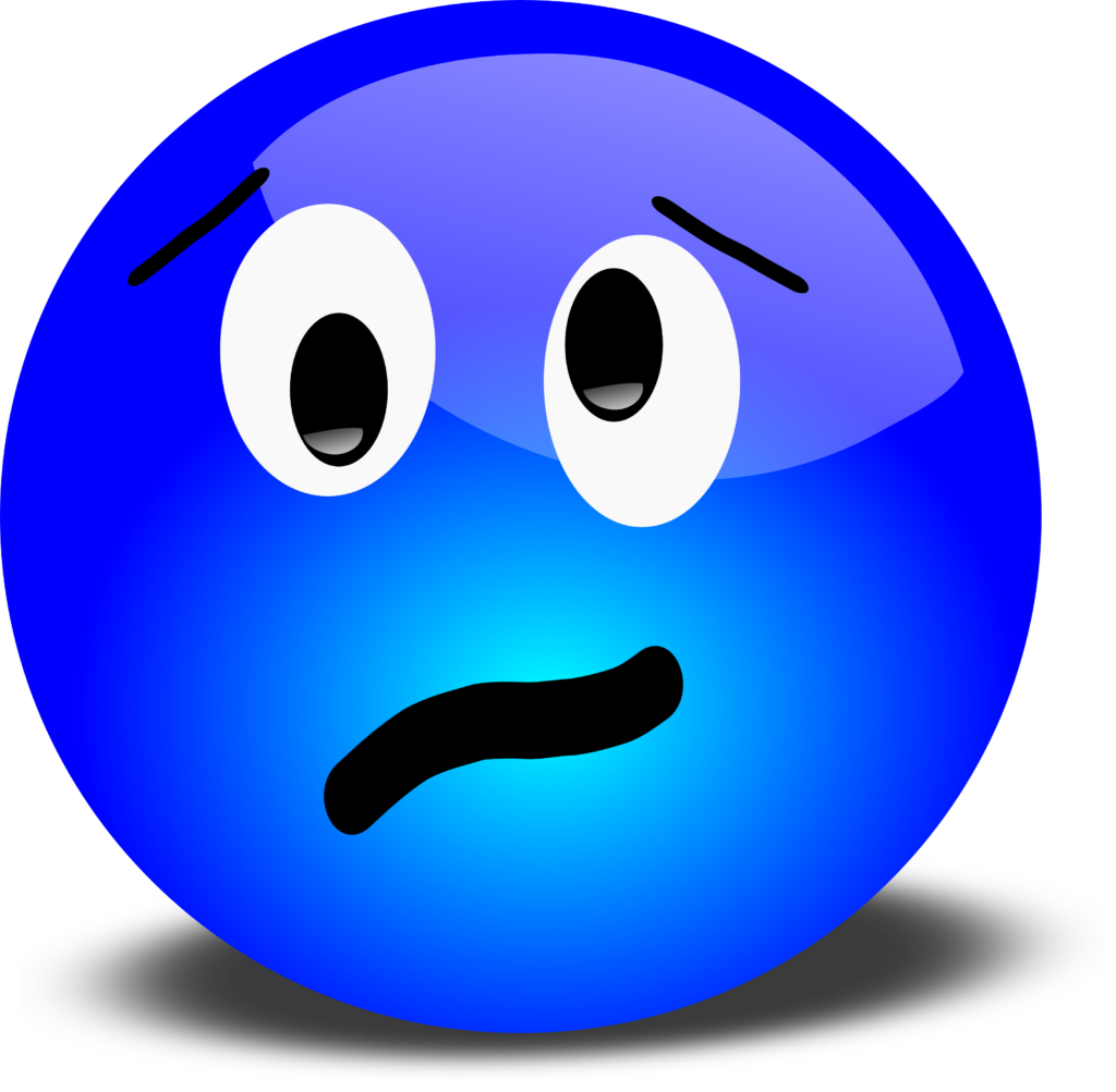 Free 3D Stressed Smiley Face Clipart Illustration