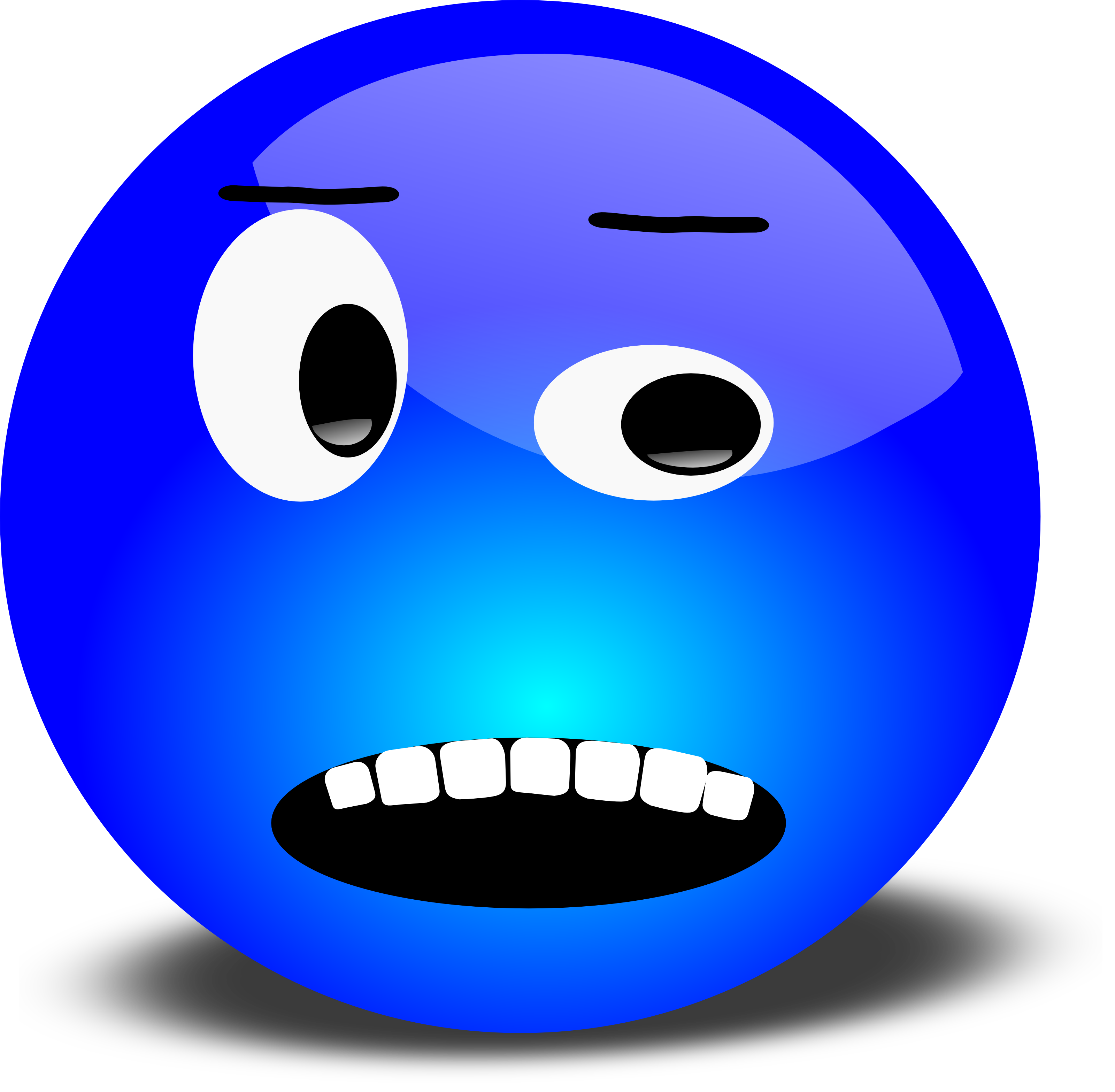 Free 3D Annoyed Smiley Face Clipart Illustration - Free Clip Art Smiley Faces Emotions