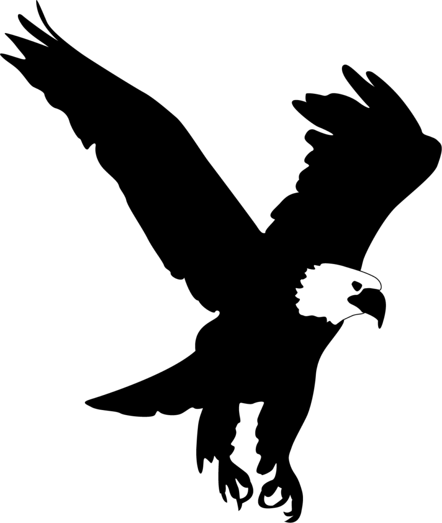 Eagle Silhouette Clip Art Free at GetDrawings  Free download