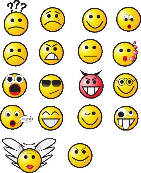 Smiley Faces 3 Clip Art at Clkercom  vector clip art