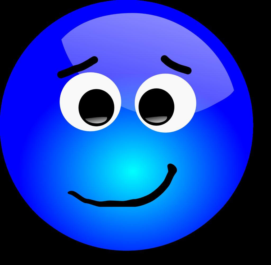 Free 3D Apprehensive Smiley Face Clipart Illustration