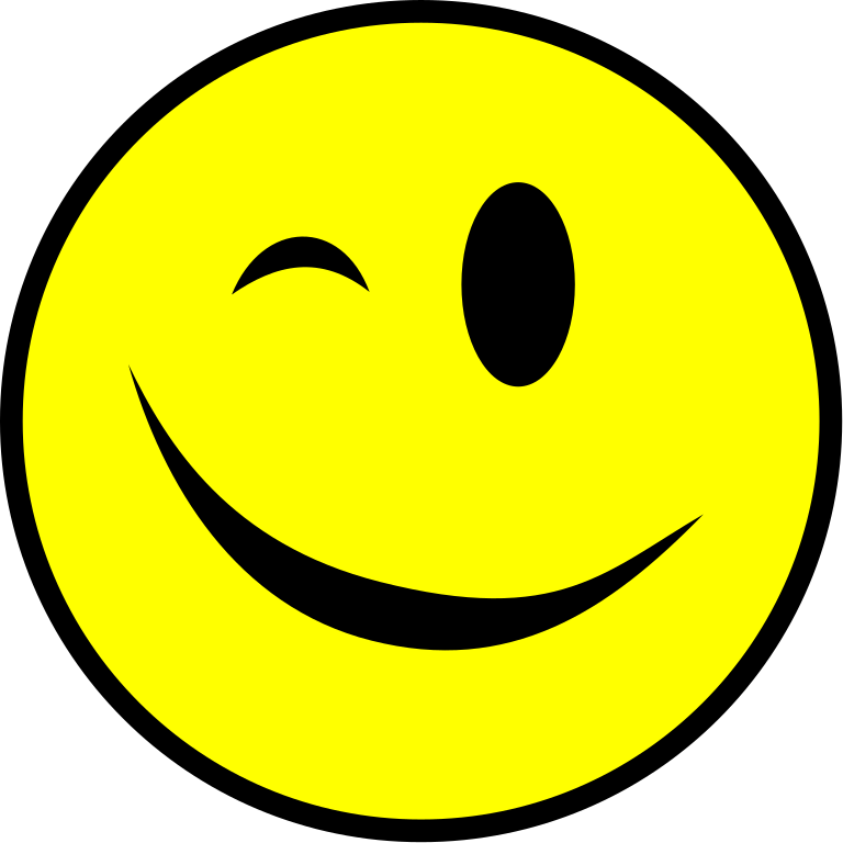 FileWinking smiley yellow simplesvg  Wikimedia Commons