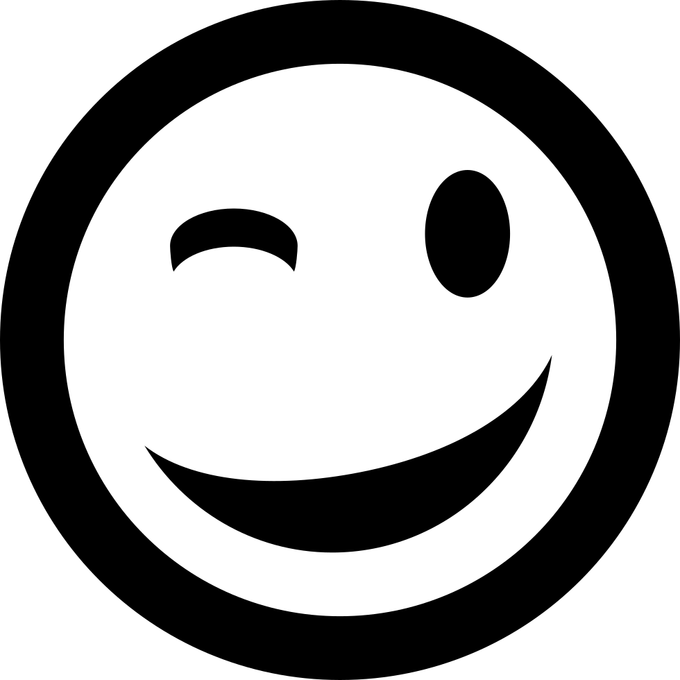 Wink Emoticon Smiley Face Svg Png Icon Free Download 1512  OnlineWebFontsCOM