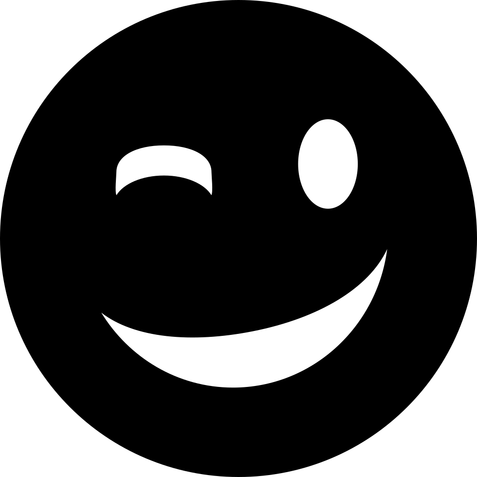 Wink Emoticon Smiley Face Svg Png Icon Free Download 1513  OnlineWebFontsCOM