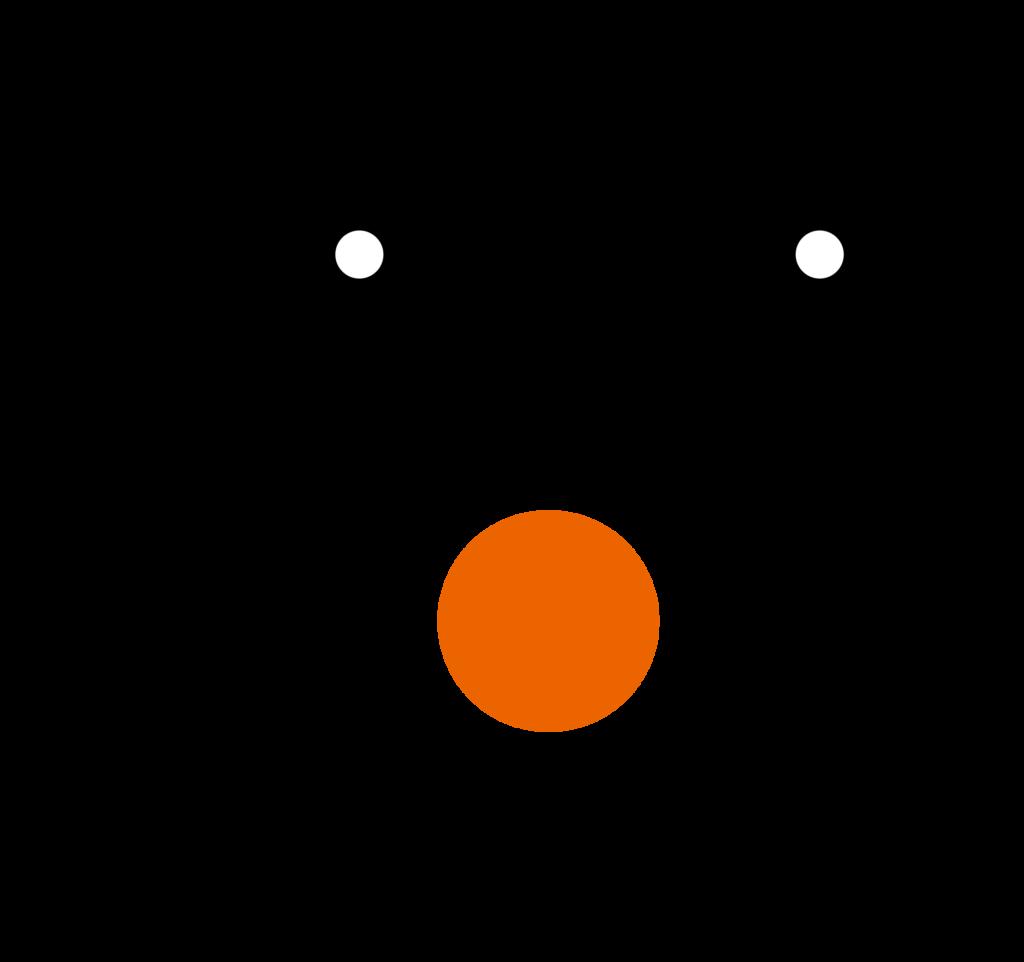Happy face with orange nose vector file image  Free stock photo  Public Domain photo  CC0 Images