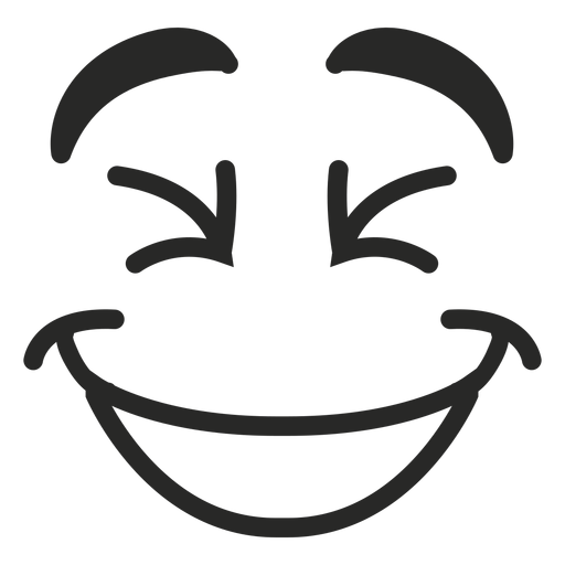 Laughing emoticon face  Transparent PNG  SVG vector file