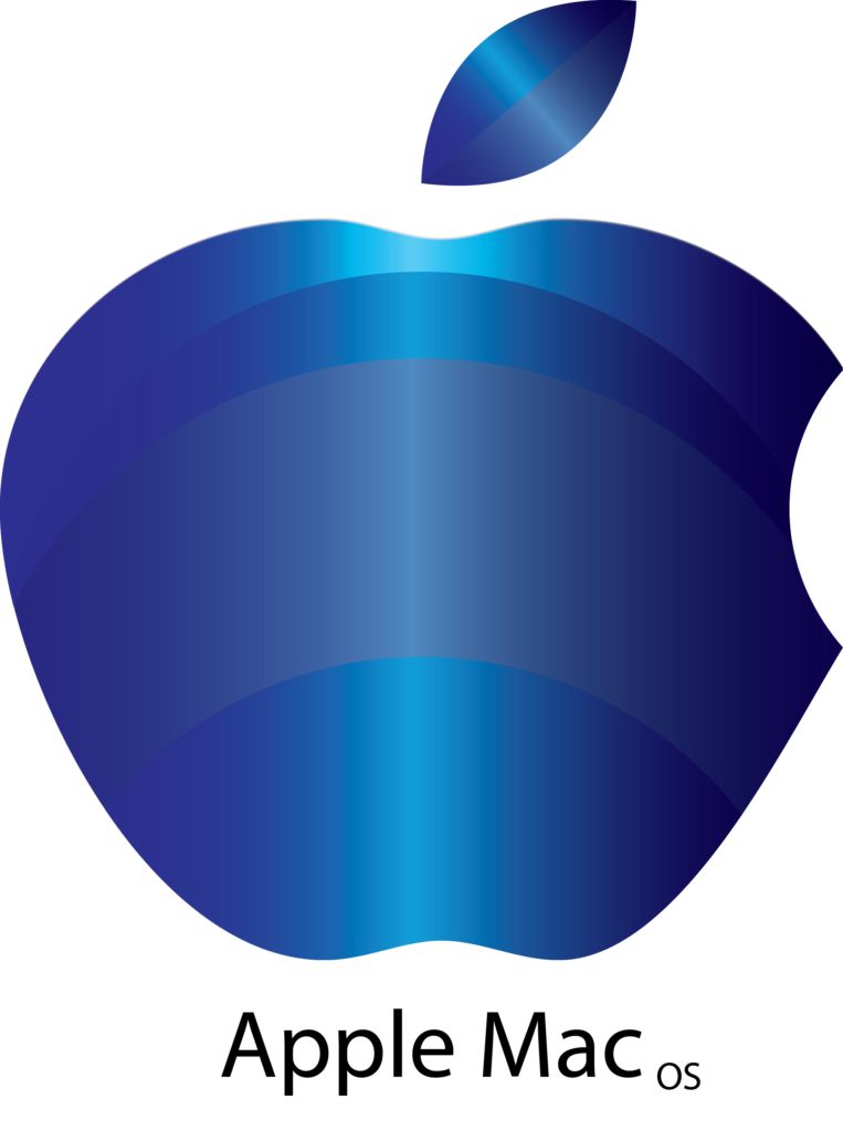 Blue Apple Mac Logo  Apple mac Mac os Logos design