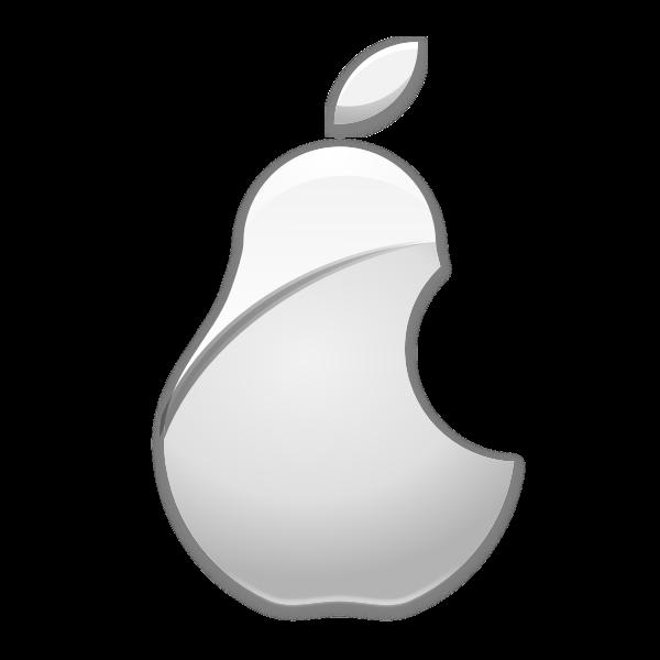 Vector image of apple parody logo  Free SVG
