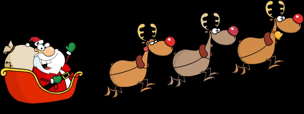 Santa and Reindeer GIF images  png3002ChristmasSanta