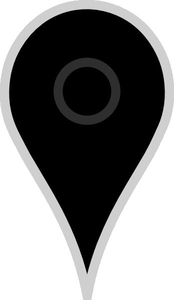 Google Map Pointer Black Clip Art at Clkercom  vector