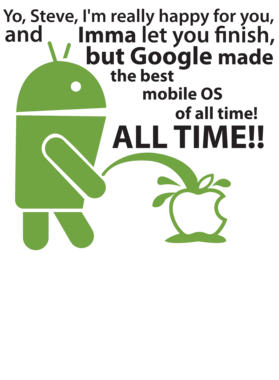 Android Logo Pissing On Apple Logo Google Operating System