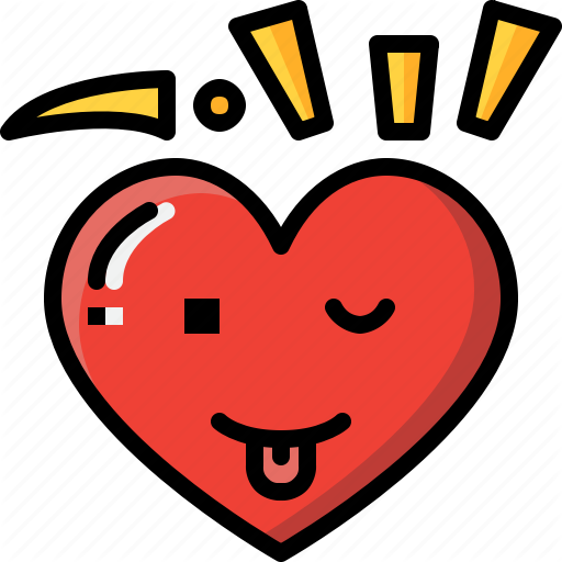 Emoji emotion feeling funny heart love valentine icon
