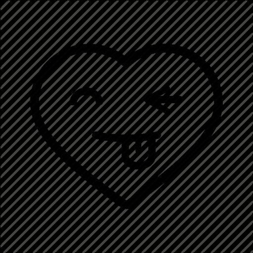 Emoji funny goofy heart love romantic smiley icon