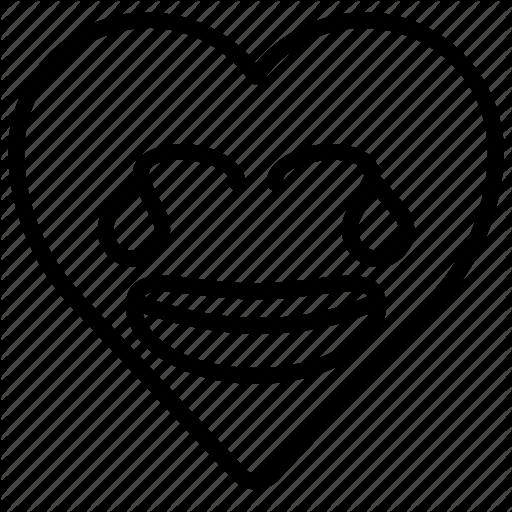 Emoji emotion funny heart joke laugh icon