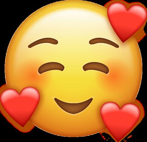 Smile Emoji With Hearts  Emoji images Ios emoji Emoji