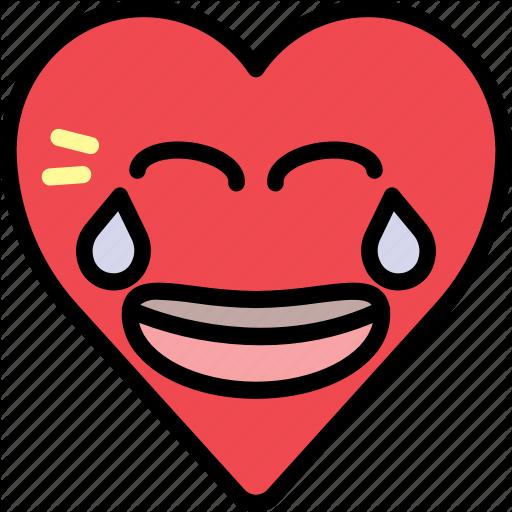 Emoji emotion funny heart joke laugh icon  Download