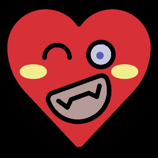 Emoji, emotion, funny, happy, heart, smile icon - Free ... - Funny Heart Emoji