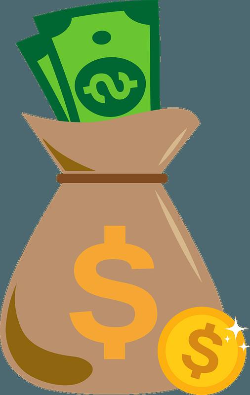 Money bag clipart Free download transparent PNG  Creazilla