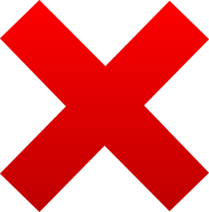"""Plain """"X"""" in red with black background. - Thread ... - Giant Red X"""