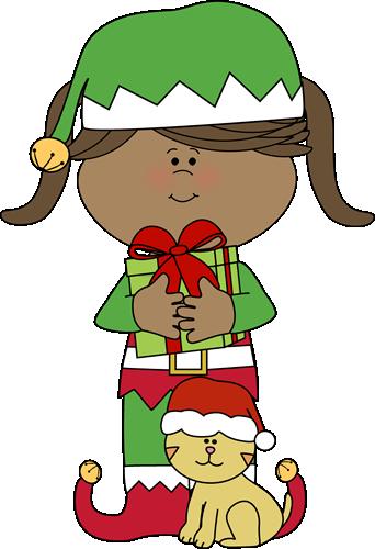 Clipart christmas girl elf collection 2  ClipartAndScrap