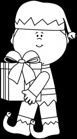 CRMla Girl Elf Clipart Black And White