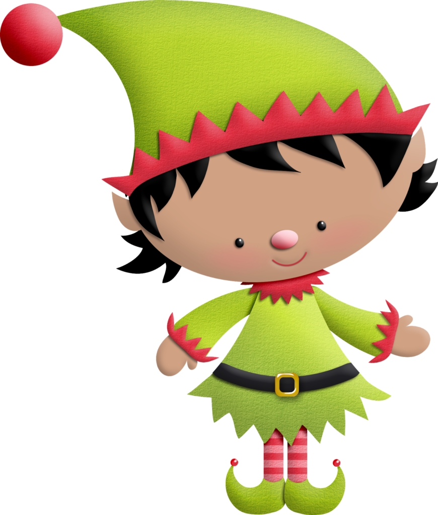 Library of christmas girl elf banner free library png