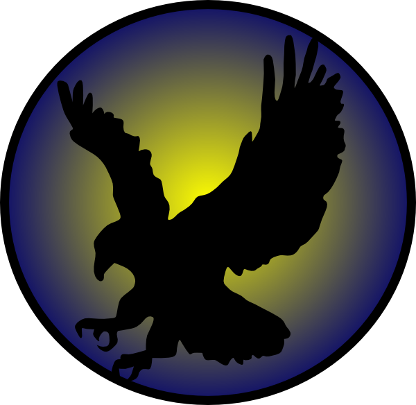 Eagle Silhouette On Blue Clip Art at Clkercom  vector