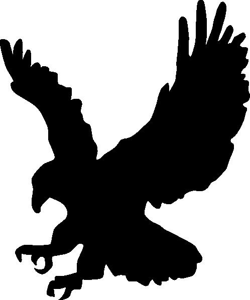 Black Golden Eagle Clip Art at Clkercom  vector clip art