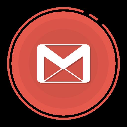 gmail icon gradient icon social media icon Gmail circle