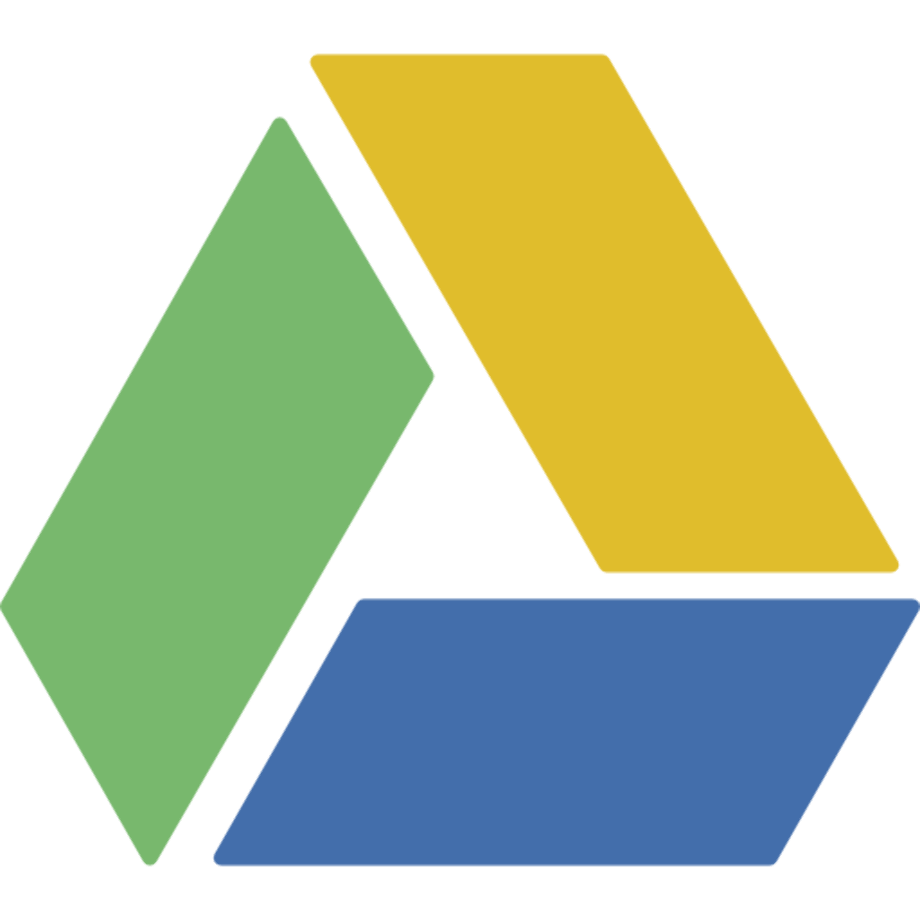 Download High Quality google drive logo icon Transparent