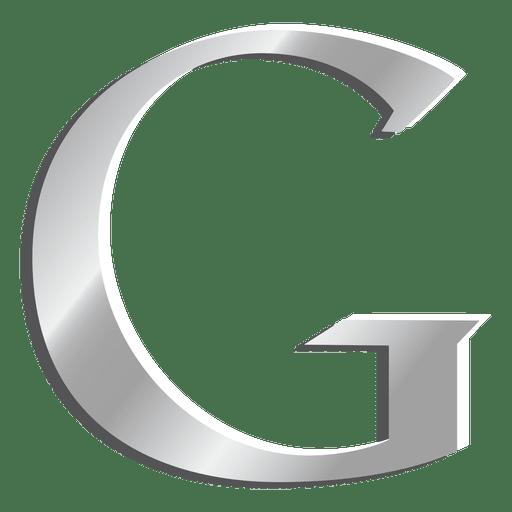 G letter Google silver icon  Transparent PNG  SVG vector
