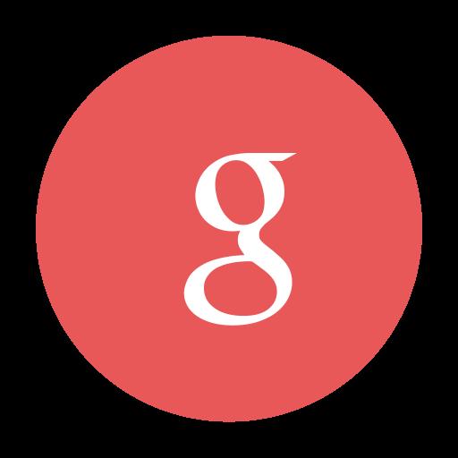 Circular g google modern red icon
