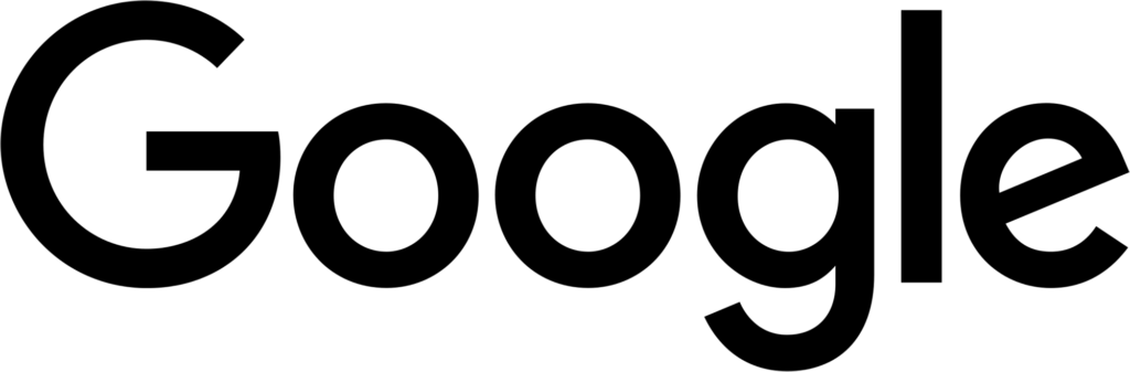 Google Monochrome Logo Black