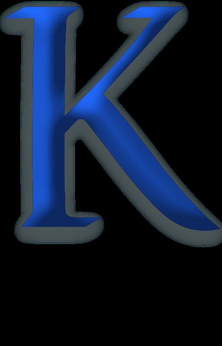 Wesley Kittrell  Alphabet letters design K logos Logo
