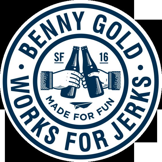 benny gold works for jerks logo  Google Search  Gold