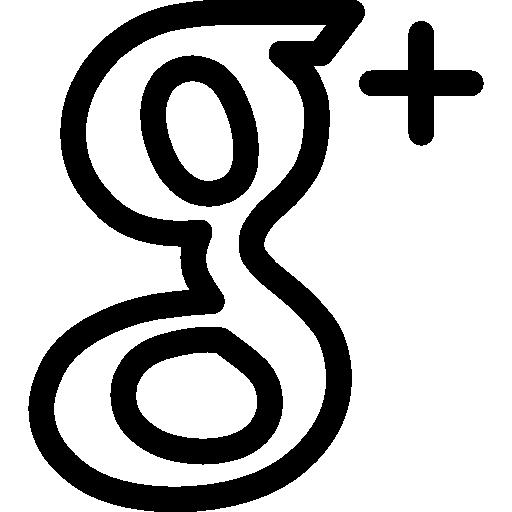 Google plus outlined logo social symbol  Free social icons
