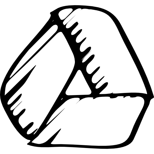 Google drive sketched logo outline  Free Icon