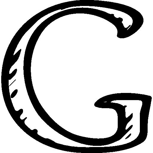Google G sketched social letter outline symbol  Free