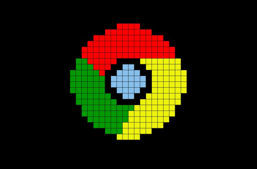 Google Chrome Pixel Art  BRIK