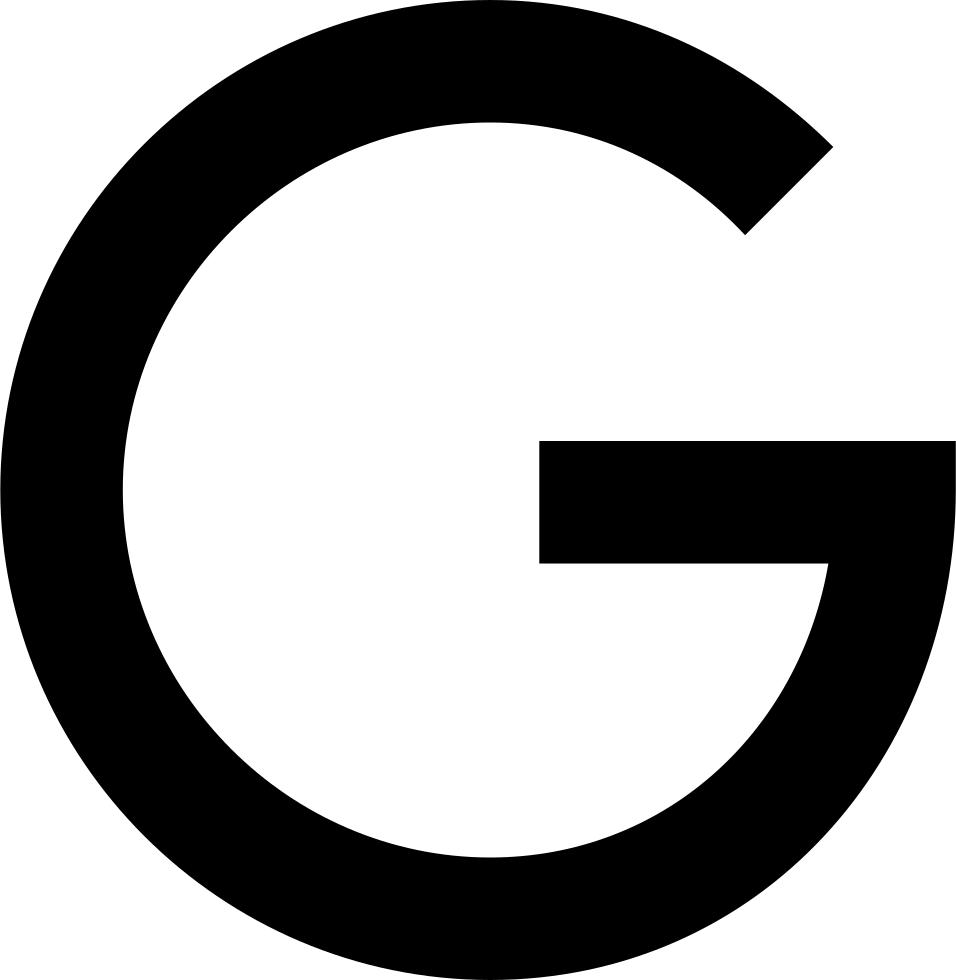 White Google Logo Svg