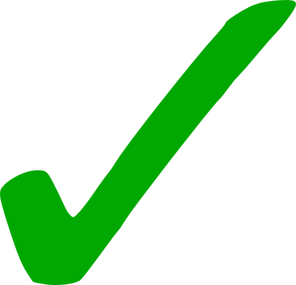 Green Check Mark Clipart  Clipart Suggest