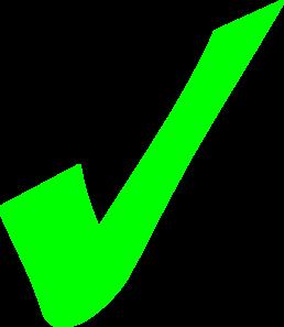 Bright Green Check Mark Clip Art at Clkercom  vector