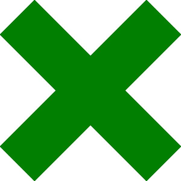 Dark Green Cross Mark Clip Art at Clkercom  vector clip